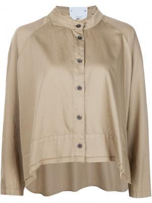 Рубашка с воротником-стойкой Lost & Found Rooms. Цвет: телесный