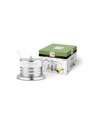 Сахарница TECO 022S-TC-3. Цвет: серебристый, прозрачный