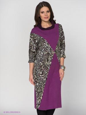 Платье МадаМ Т. Цвет: хаки, фиолетовый, белый, черный