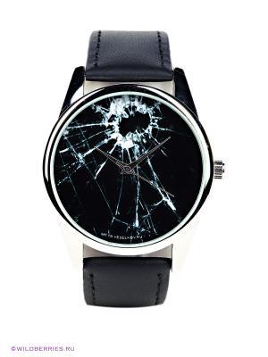 Часы Битое стекло Mitya Veselkov. Цвет: черный