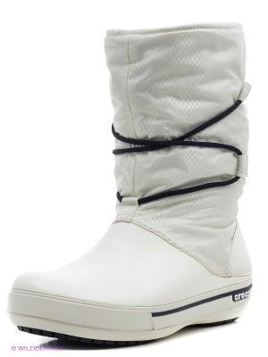 Сапоги CROCS. Цвет: белый