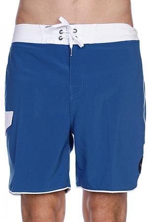 Пляжные мужские шорты  Super Boardie Washed Blue Globe. Цвет: синий