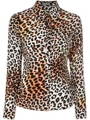 Рубашка с леопардовым принтом Rockins. Цвет: многоцветный