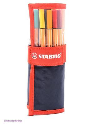 Набор ручек, 25 цветов Stabilo. Цвет: желтый, красный, черный