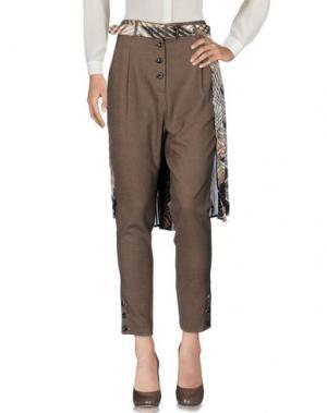 Повседневные брюки MARIAGRAZIA PANIZZI. Цвет: хаки