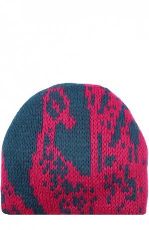 Вязаная шапка с узором Tak.Ori. Цвет: фуксия
