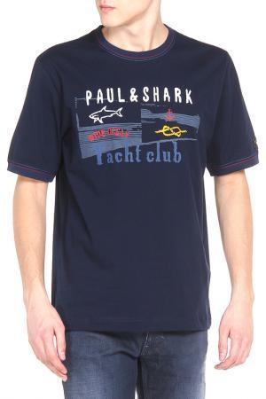 Футболка Paul & Shark. Цвет: синий