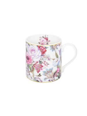 Кружка - подарок Цветочный рай Elan Gallery. Цвет: розовый, белый, зеленый