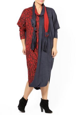 DRESS Zedd Plus. Цвет: black and bordeaux