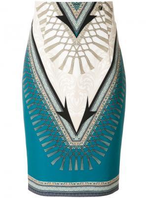 Юбка-карандаш с принтом Versace Collection. Цвет: многоцветный