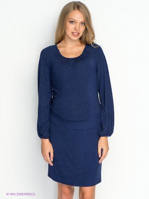 Платье для беременных ФЭСТ 61514Е/темно-синий