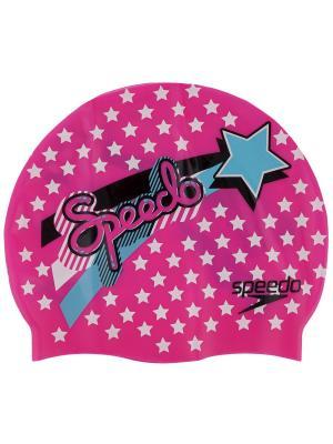 Детская шапочка для плавания Speedo. Цвет: бирюзовый, розовый, салатовый