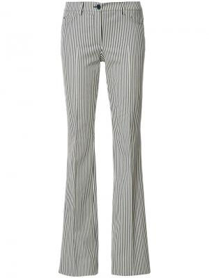Расклешенные брюки в полоску Akris Punto. Цвет: телесный