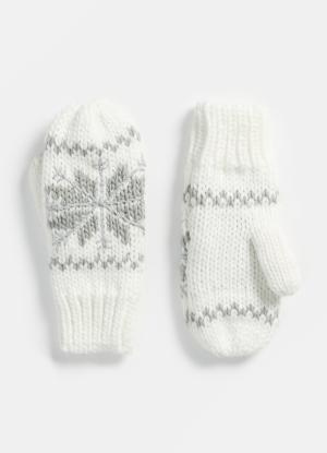 Варежки с изображением снежинки OSTIN