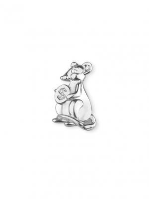 Сувенир - подарок Мышь кошелечная KU&KU. Цвет: серебристый, светло-серый