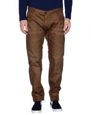 Джинсовые брюки JAPAN RAGS. Цвет: коричневый