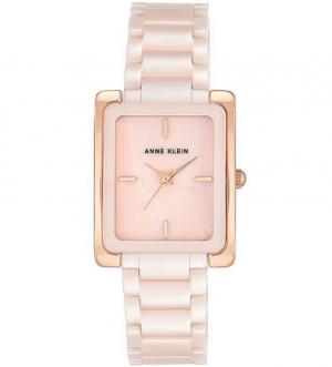 Часы со светло-розовым керамическим браслетом Anne Klein