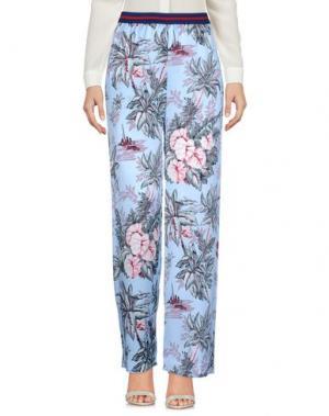 Повседневные брюки SHIRTAPORTER. Цвет: небесно-голубой