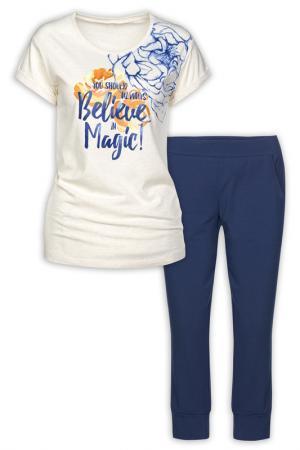 Комплект: футболка, бриджи Pelican. Цвет: молочный