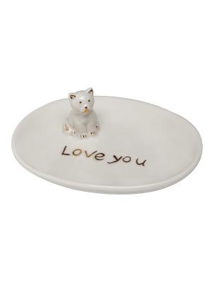 Керамическая тарелка 11,5х9 см PROFFI. Цвет: белый