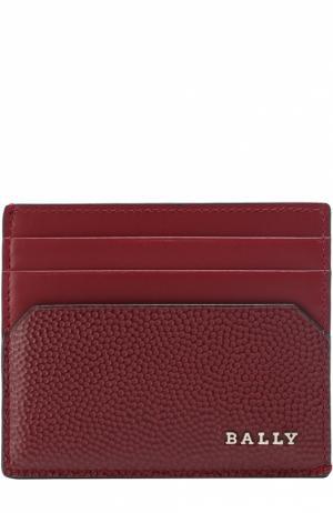 Кожаный футляр для кредитных карт Bally. Цвет: бордовый