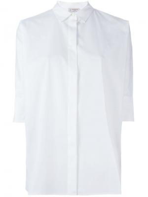 Свободная рубашка Alberto Biani. Цвет: белый