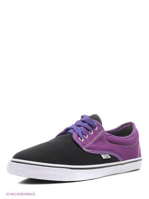 Кеды 4U. Цвет: черный, фиолетовый