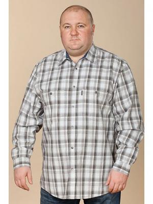 Рубашка Westrenger. Цвет: серый