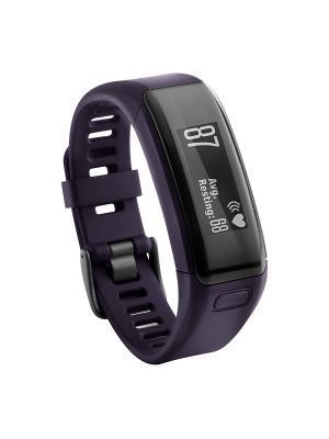 Фитнес-браслет Vivosmart HR фиолетовый со встроенным пульсометром GARMIN. Цвет: фиолетовый