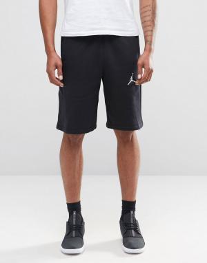 Jordan Черные шорты Nike Jumpman 824020-010. Цвет: черный