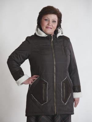 Куртка Амелия VIKO. Цвет: темно-коричневый