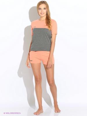 Комплект домашней одежды ( футболка, шорты) HomeLike. Цвет: оранжевый, серый