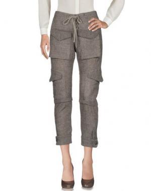 Повседневные брюки GREG LAUREN. Цвет: темно-коричневый