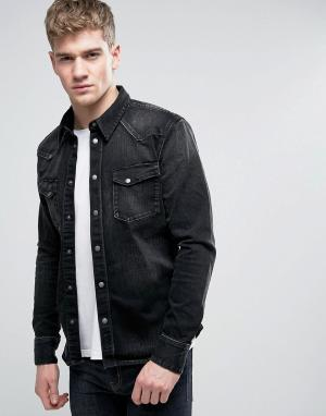 Nudie Jeans Рубашка навыпуск Co Jonis. Цвет: черный