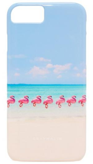 Чехол для iPhone 7 с изображением фламинго Gray Malin