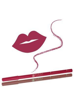 Набор деревянных косметических карандашей для губ 2 штуки. Натуральный плюс цвет 418 Розовый персик Parisa. Цвет: розовый