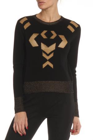 Пуловер SIVIGLIA. Цвет: черный, золотая вышивка