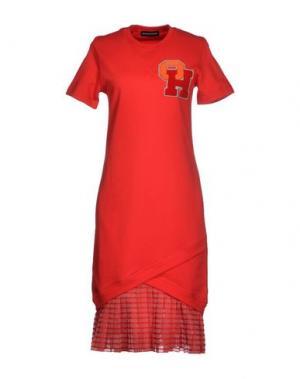 Платье до колена OSTWALD HELGASON. Цвет: красный