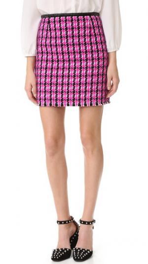 Виниловая юбка Marc Jacobs. Цвет: розовый