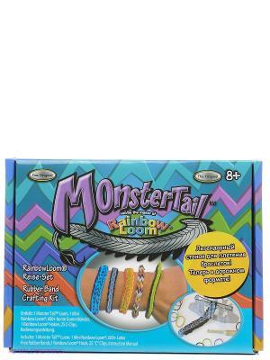Набор для плетения браслетов компактный Monster Tail RAINBOWLOOM. Цвет: синий