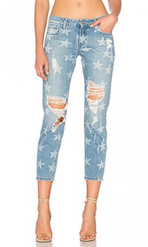 Потертые джинсы в мужском стиле star Etienne Marcel. Цвет: none