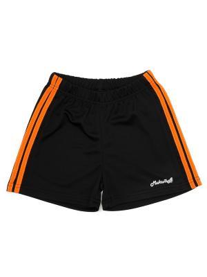 Шорты спортивные МИКИТА. Цвет: черный, оранжевый