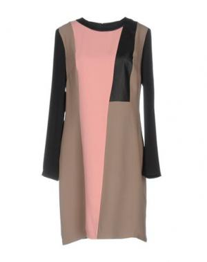 Короткое платье RAOUL. Цвет: голубиный серый