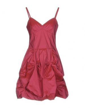 Короткое платье X'S MILANO. Цвет: красно-коричневый