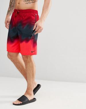 Nike Пляжные шорты. Цвет: красный