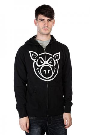 Толстовка  Basic Black/White Pig. Цвет: черный