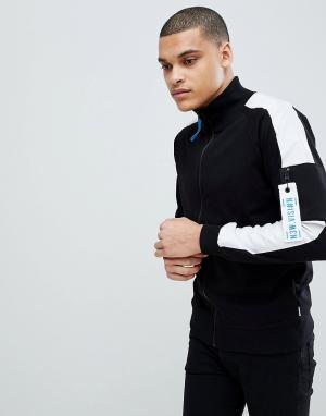 Jack & Jones Спортивная куртка с полосками на рукавах Core. Цвет: розовый