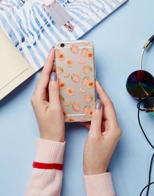 SIGNATURE Чехол для iPhone 6 с принтом персиков. Цвет: розовый