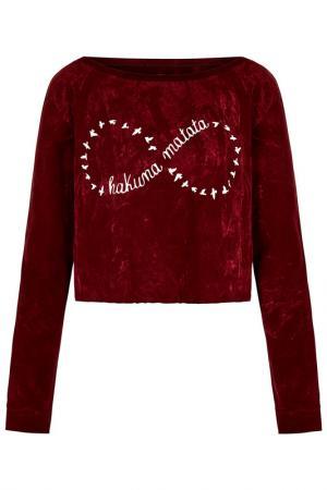 Пуловер Iska. Цвет: красный