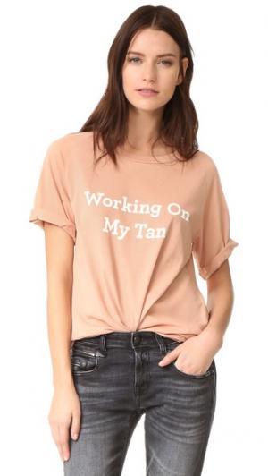 Работая My футболке с бежевый Lolli. Цвет: бежевый